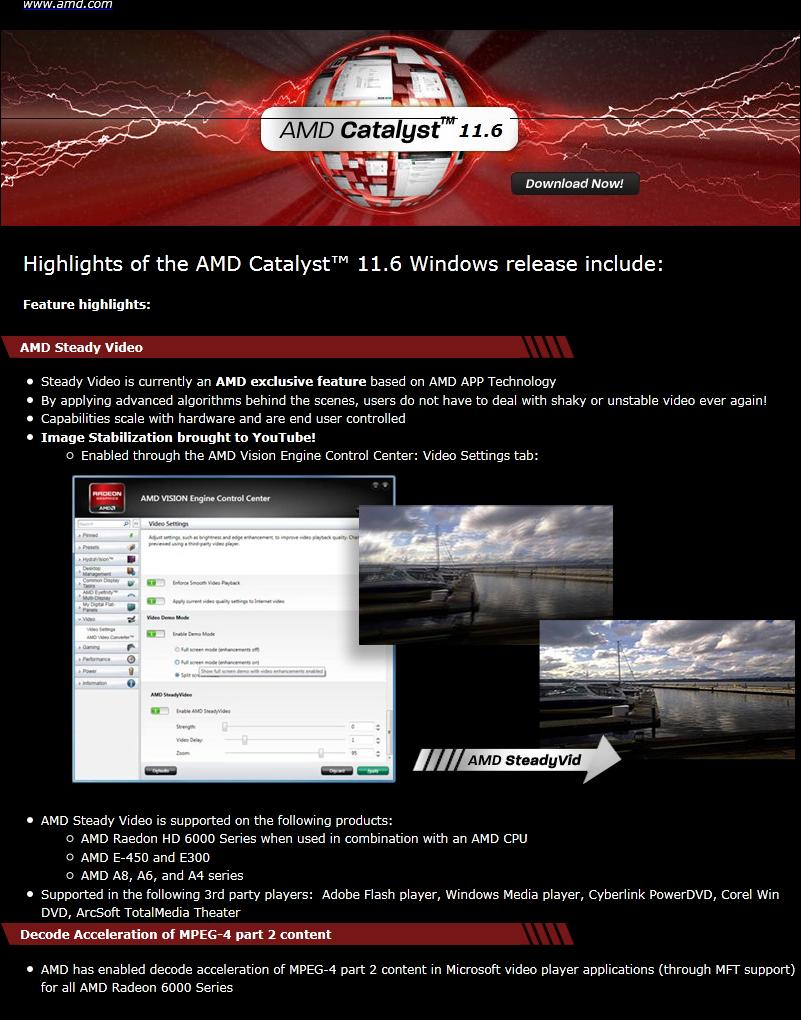 GPU-Tech org - AMD Catalyst Driver 11 6 with AMD Steady