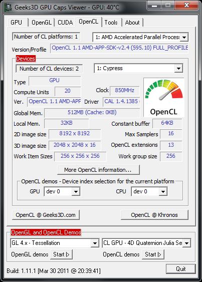 AMD Catalyst 11.5 WHQL in GPU Caps Viewer