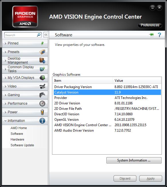 AMD Catalyst 11.9 WHQL