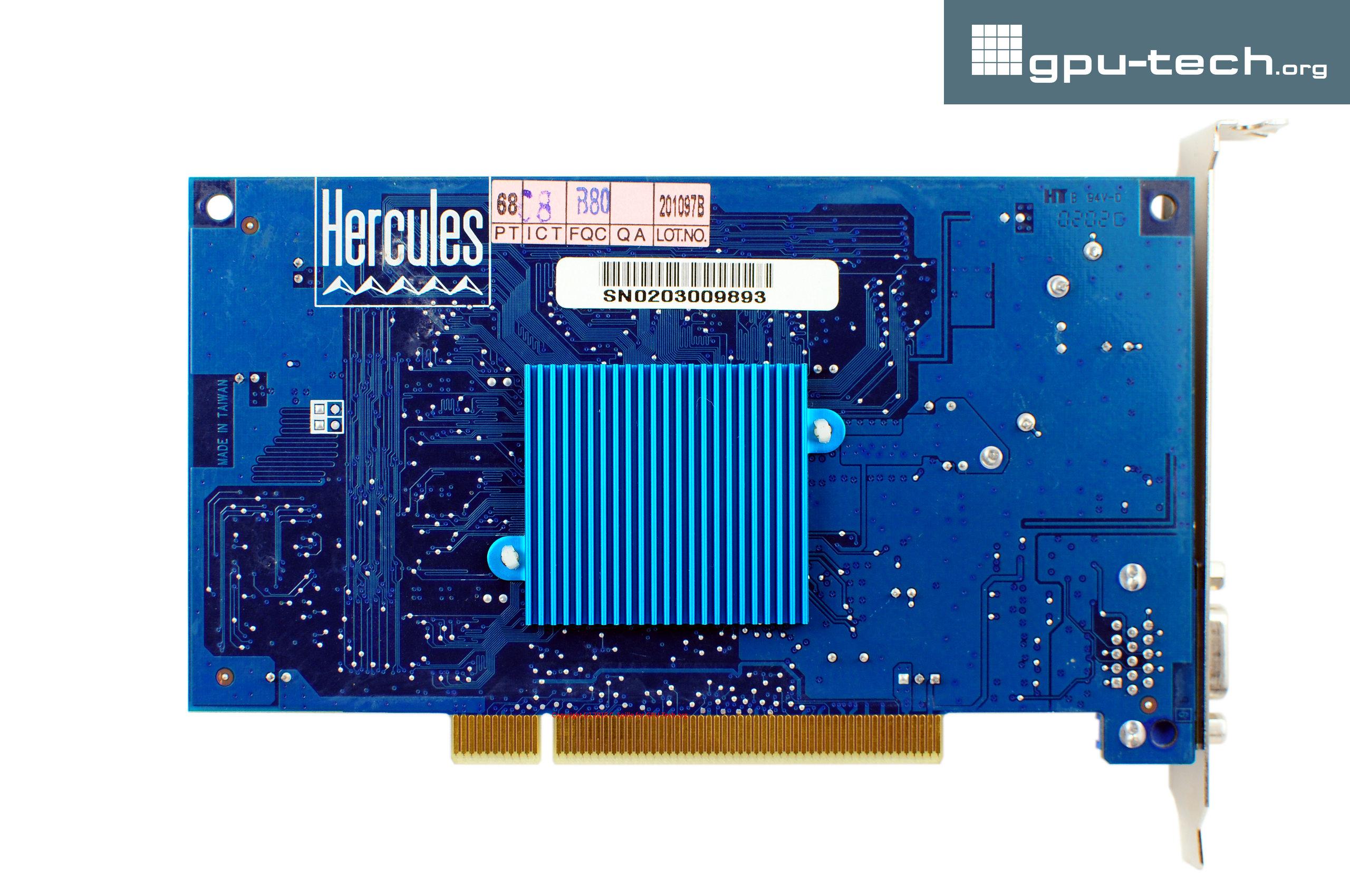 PowerVR Series 3: STG4000 Kyro on Hercules 3D Prophet 4000 XT PCI back view