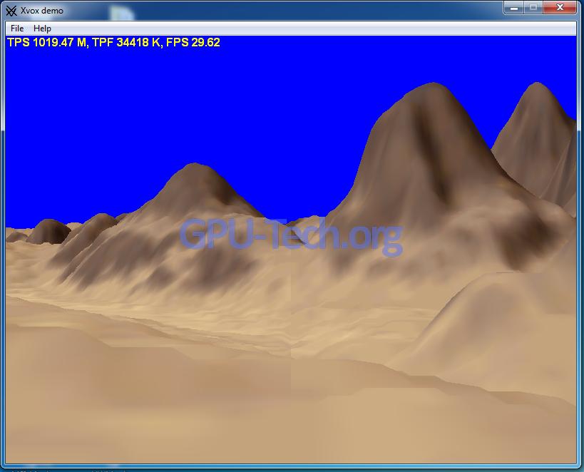 Xvox Demo Triangle Rate Geforce GTX 460