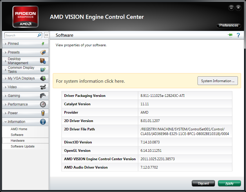 AMD Catalyst 11.11 WHQL Version Numbers
