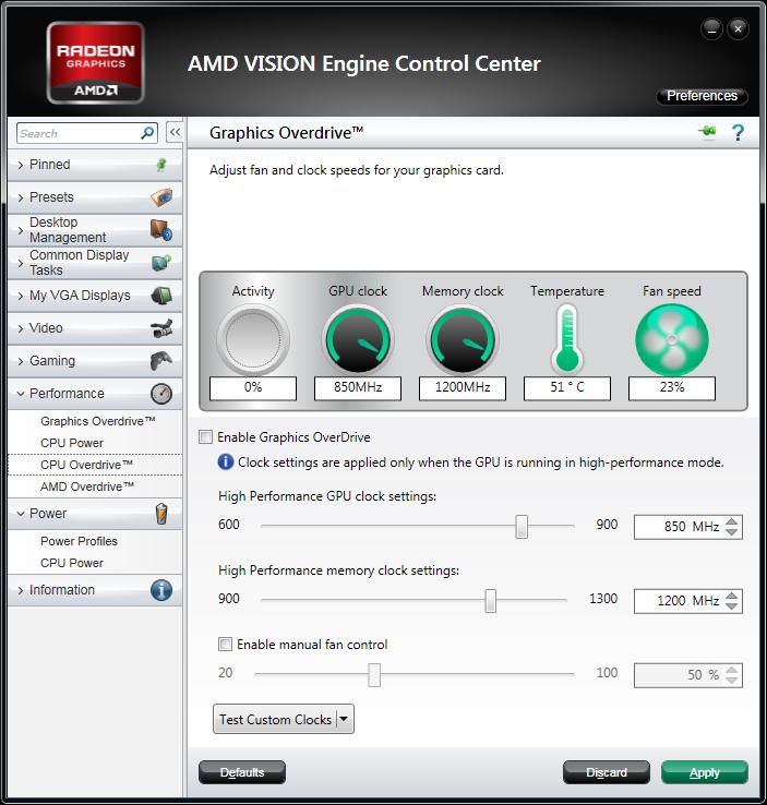 AMD GPU Overdrive in Catalyst 11.10 WHQL