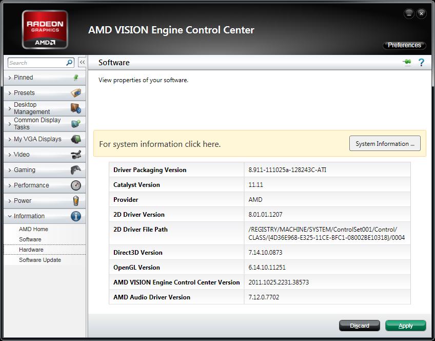 AMD Catalyst 11.11 WHQL Version Numbers