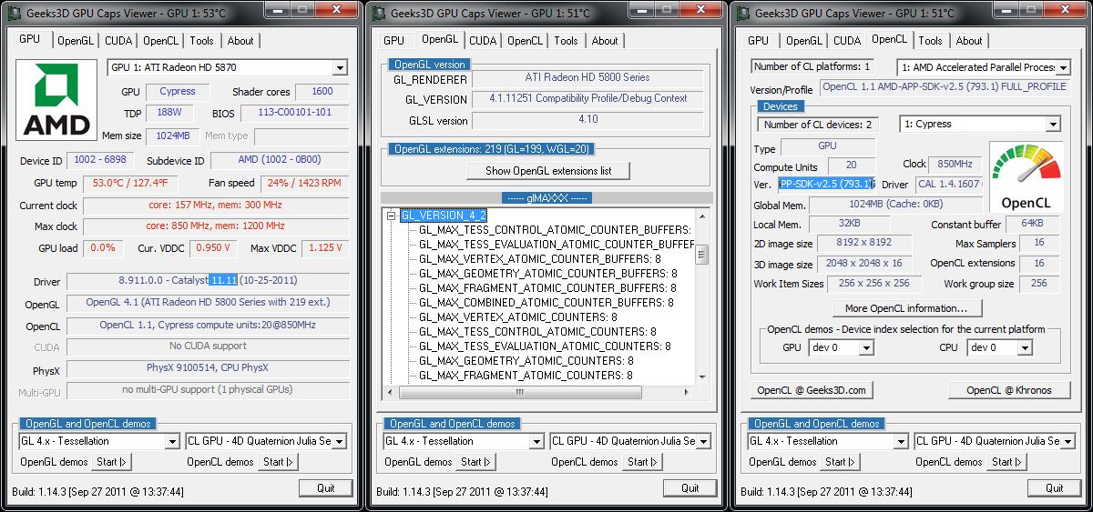AMD Catalyst 11.11 WHQL GPU Caps Viewer