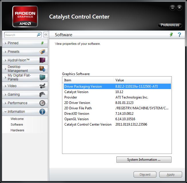 AMD Catalyst 11.1a Hotfix Update Jan26th