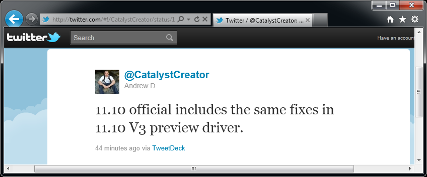 CatalystCreator Andrew Dodd about Catalyst 11.10 on Twitter (2)