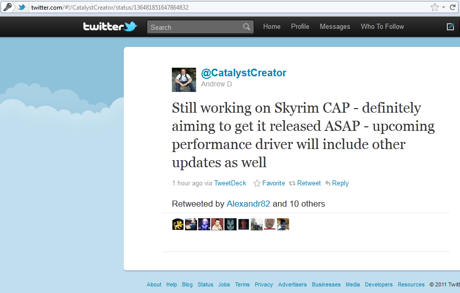 CatalystCreator promises Skyrim-CAP ASAP