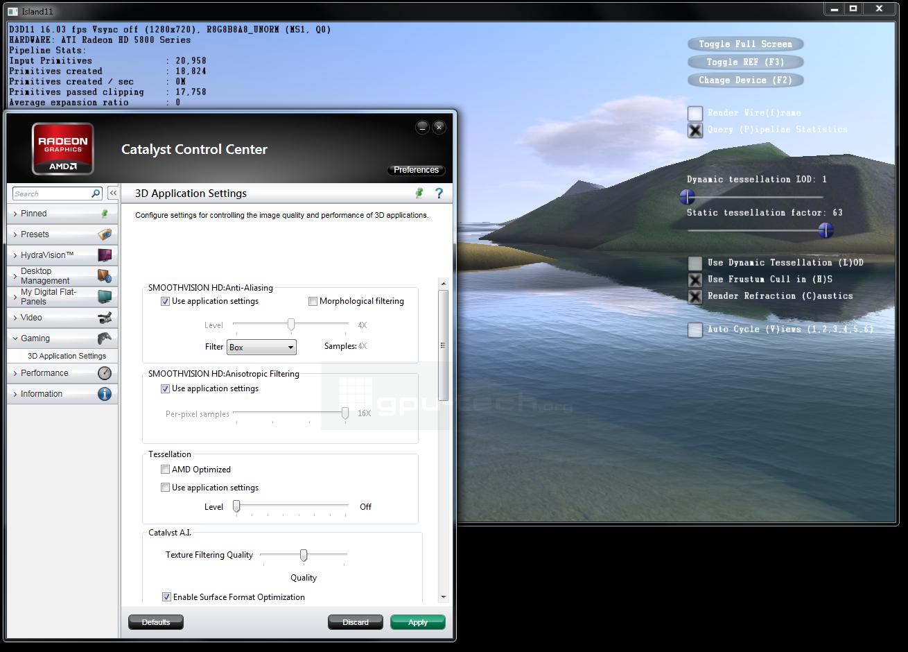 Tessellation Control in Nvidias Tessellation App island11