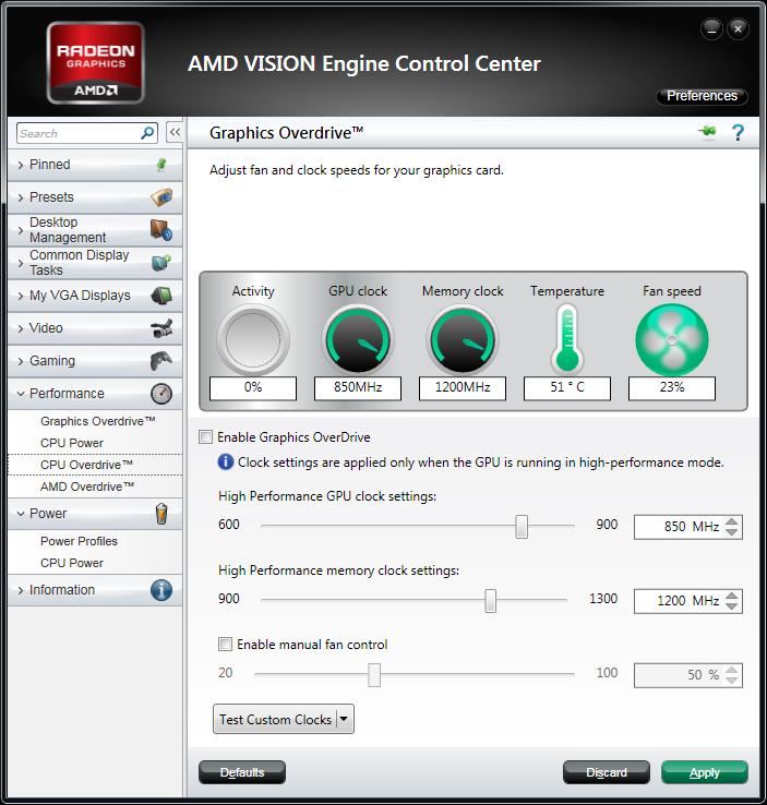AMD GPU Overdrive in Catalyst 11.10 WHQL