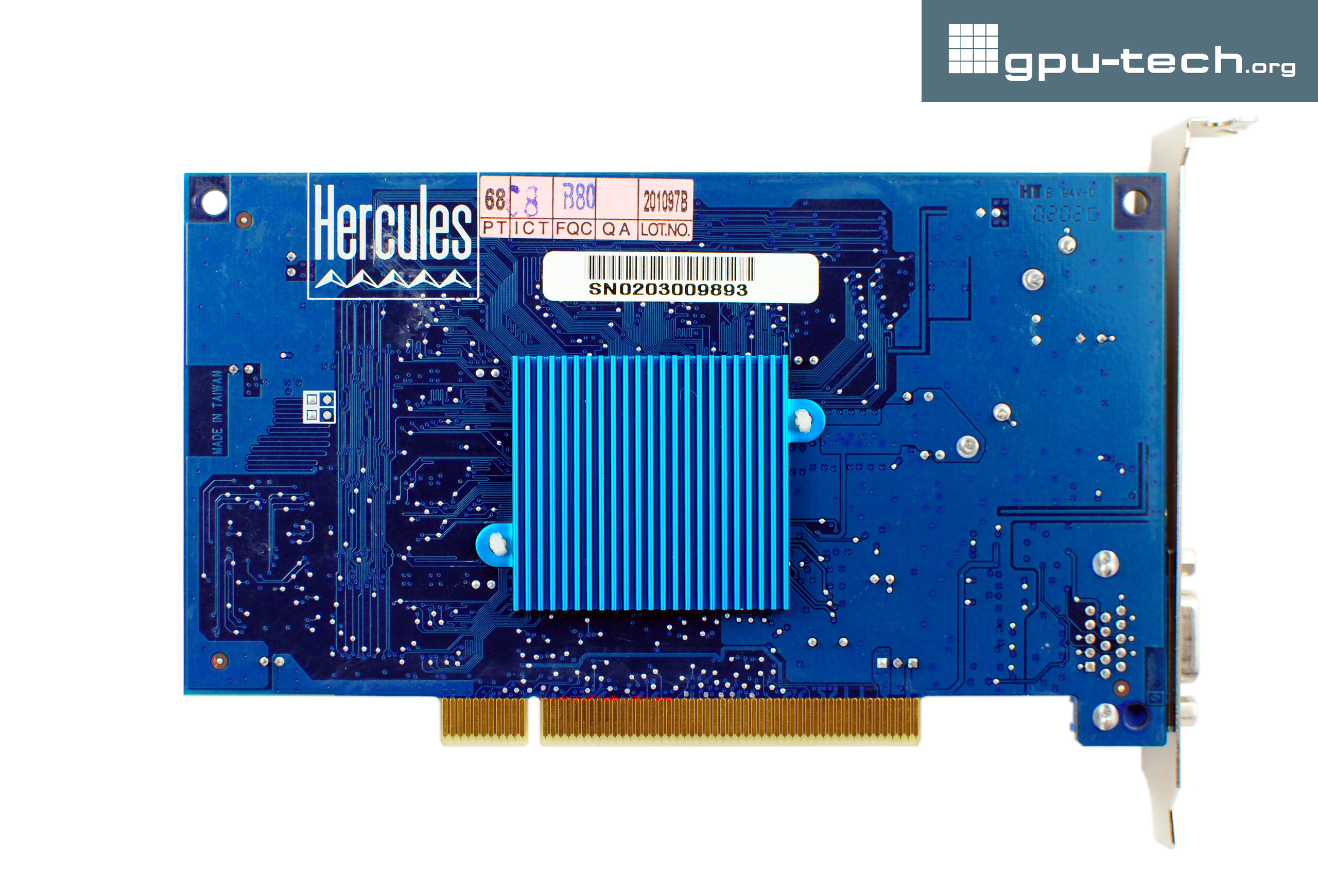 PowerVR Series 3: STG4000 Kyro on Hercules 3D Prophet 4000 XT PCI back view