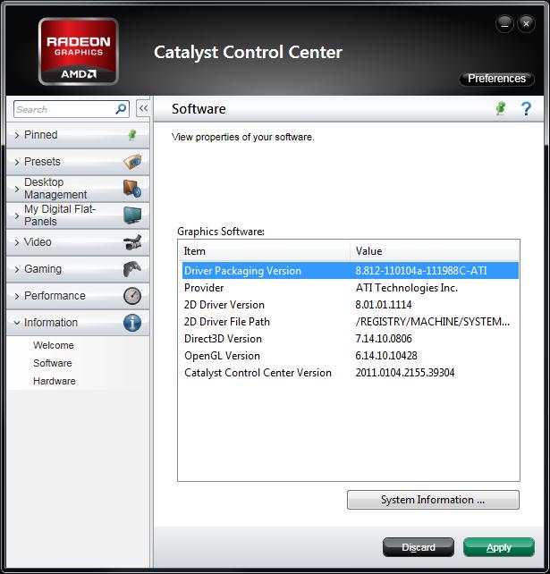 Catalyst 11.1 WHQL version information