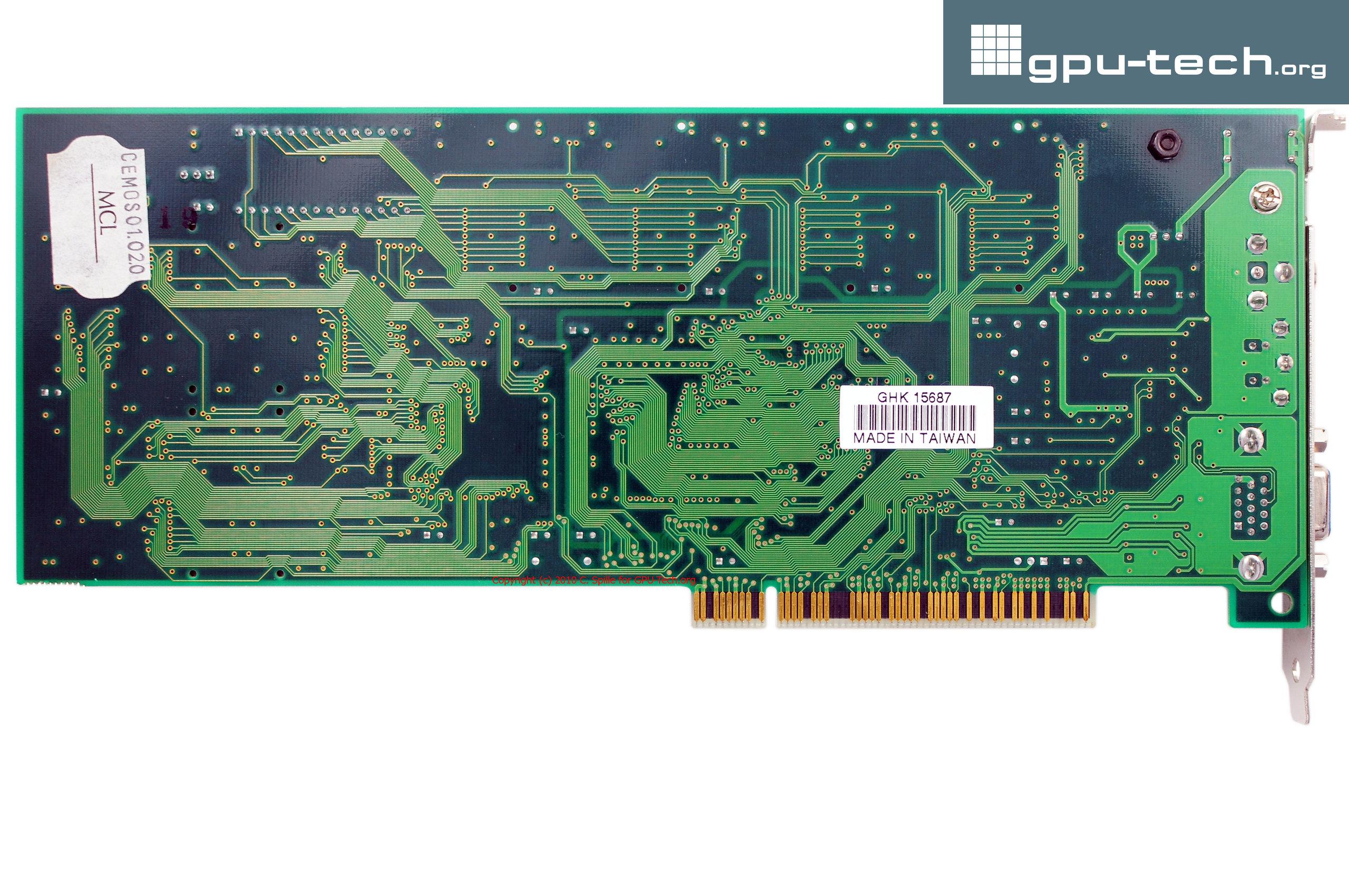 3dfx 2theMax Gainward Fantasy FX Dragon 2000 (single planar Voodoo Rush + Macronix MX86152FC) back view
