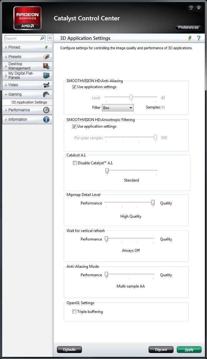 Catalyst 11.1 WHQL 3D options on HD 5870
