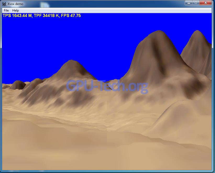 Xvox Demo Triangle Rate Geforce GTX 480