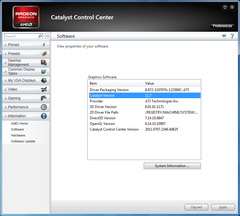 AMD Catalyst 11.7 WHQL version numbers
