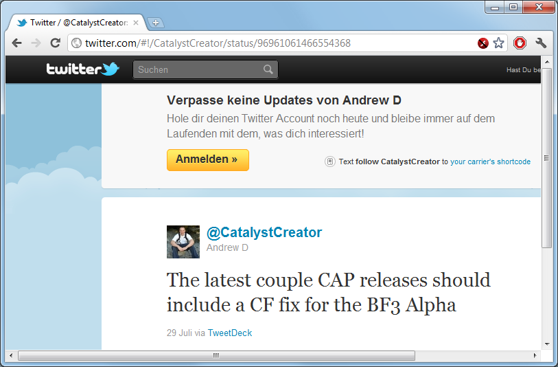 CatalystCreator on Twitter: BF3 Alpha already optimized for in 11.7 CAP1