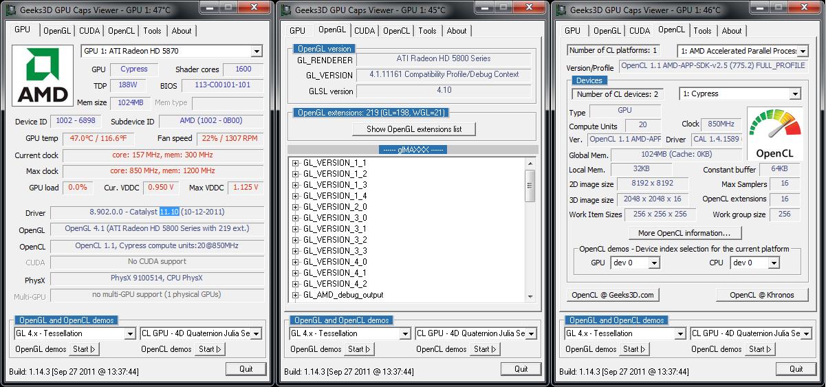 AMD Catalyst 11.10 WHQL GPU Caps Viewer