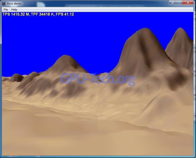Xvox Demo Triangle Rate Geforce GTX 470