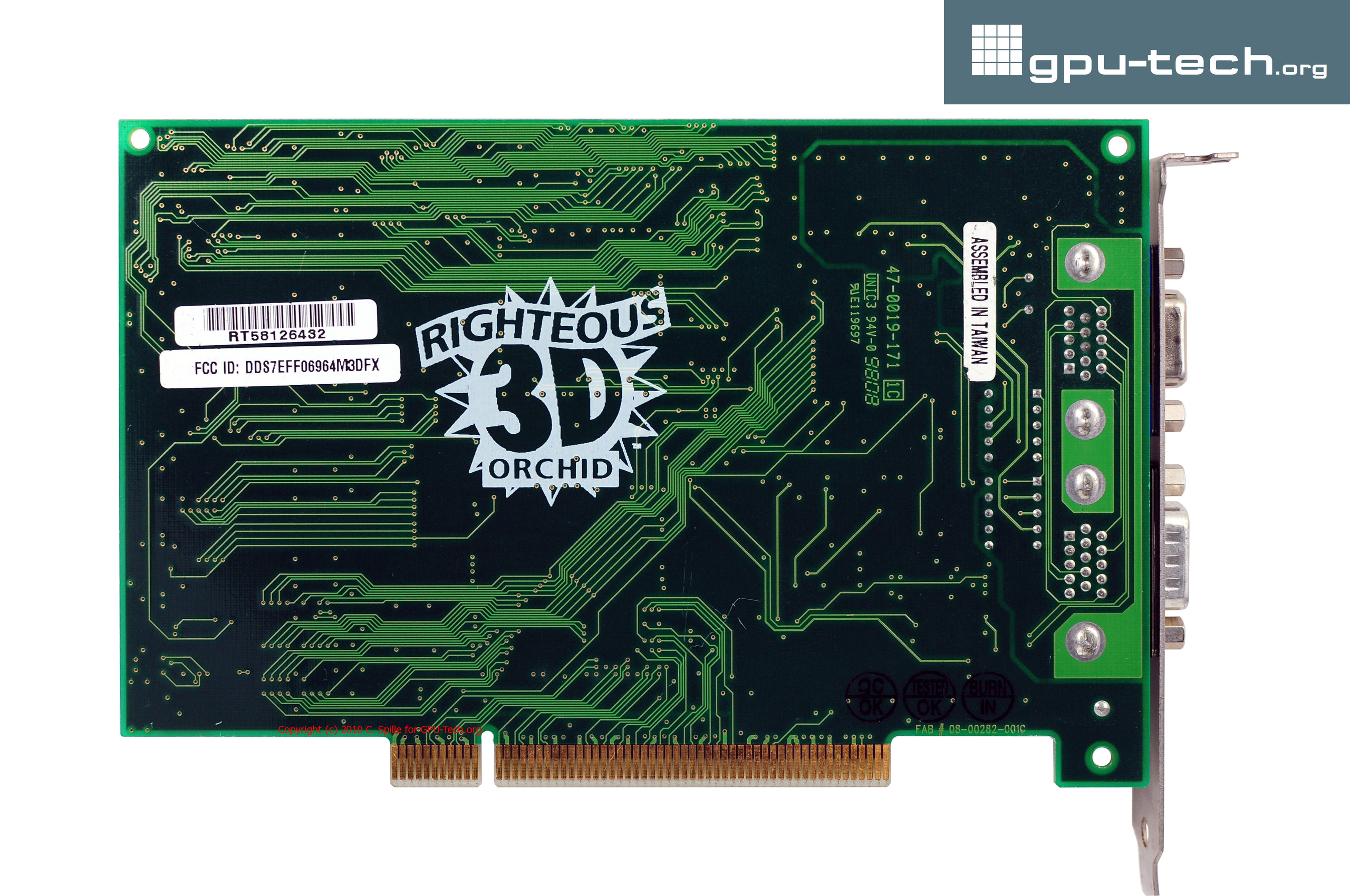 3Dfx Voodoo Graphics: Orchid Righteous 3D (back view)