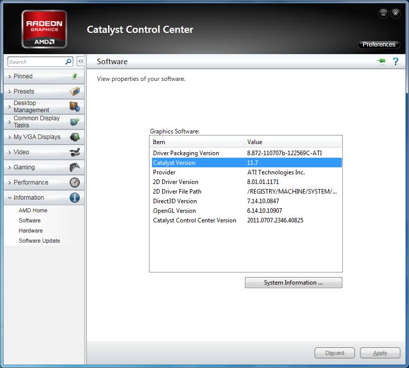 AMD Catalyst 11.7 WHQL version numbers