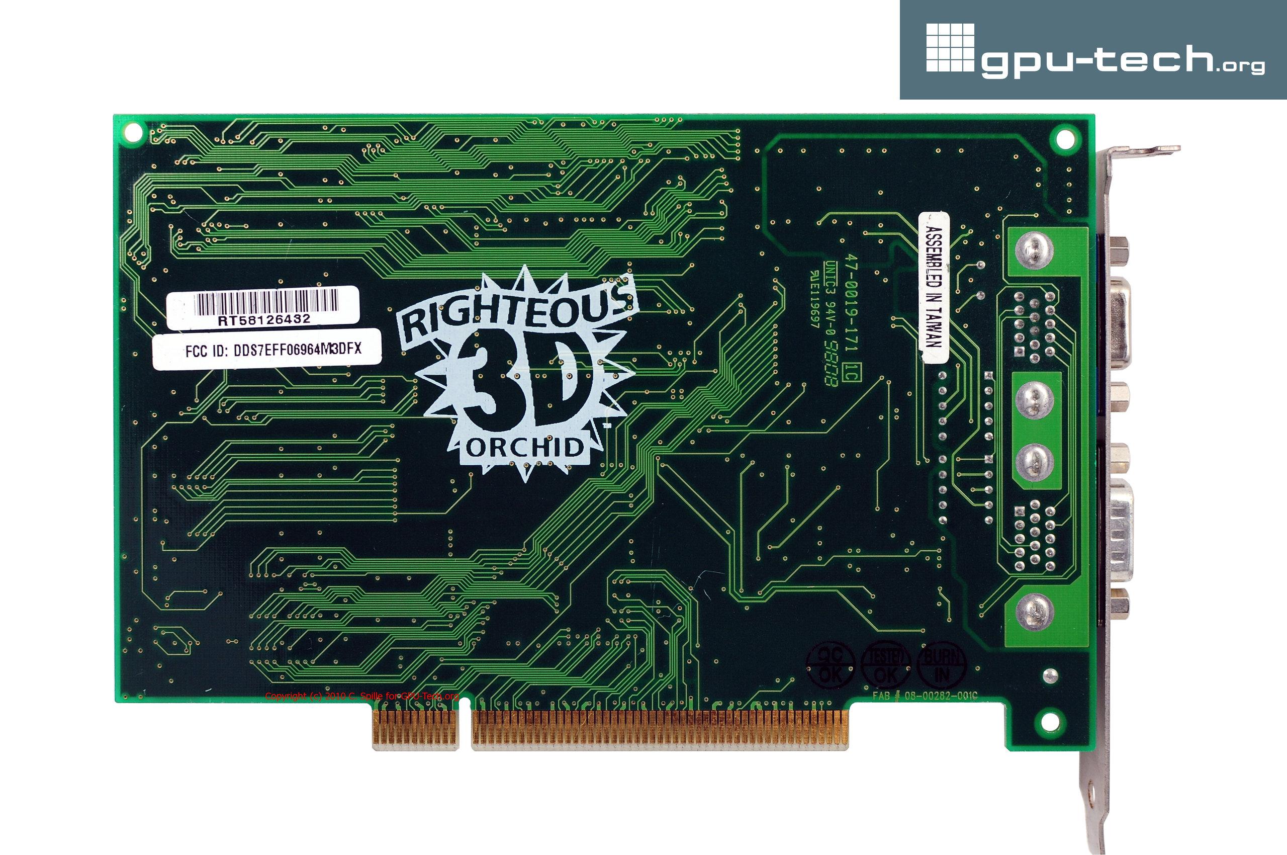 3Dfx Voodoo Graphics: Orchid Righteous 3D (back view)