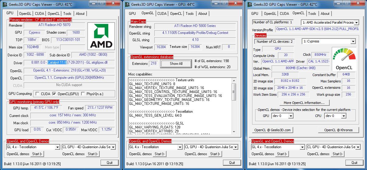 AMDs Catalyst 11.8 WHQL with GPU Caps Viewer