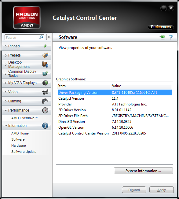 AMD Catalyst 11.4 WHQL Version Numbering